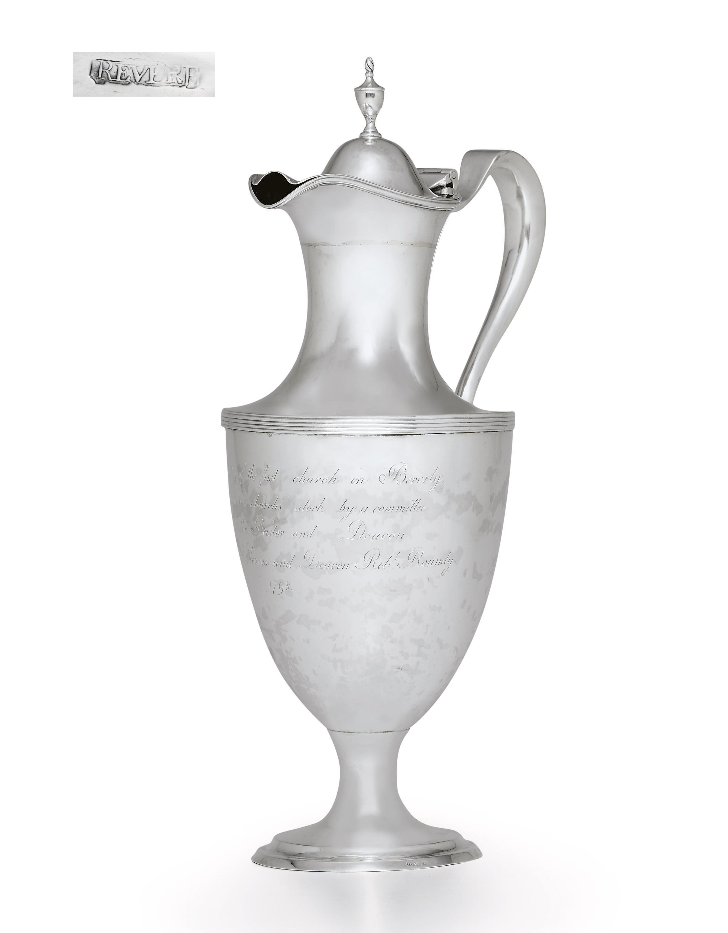AN IMPORTANT AND MONUMENTAL SILVER EWER