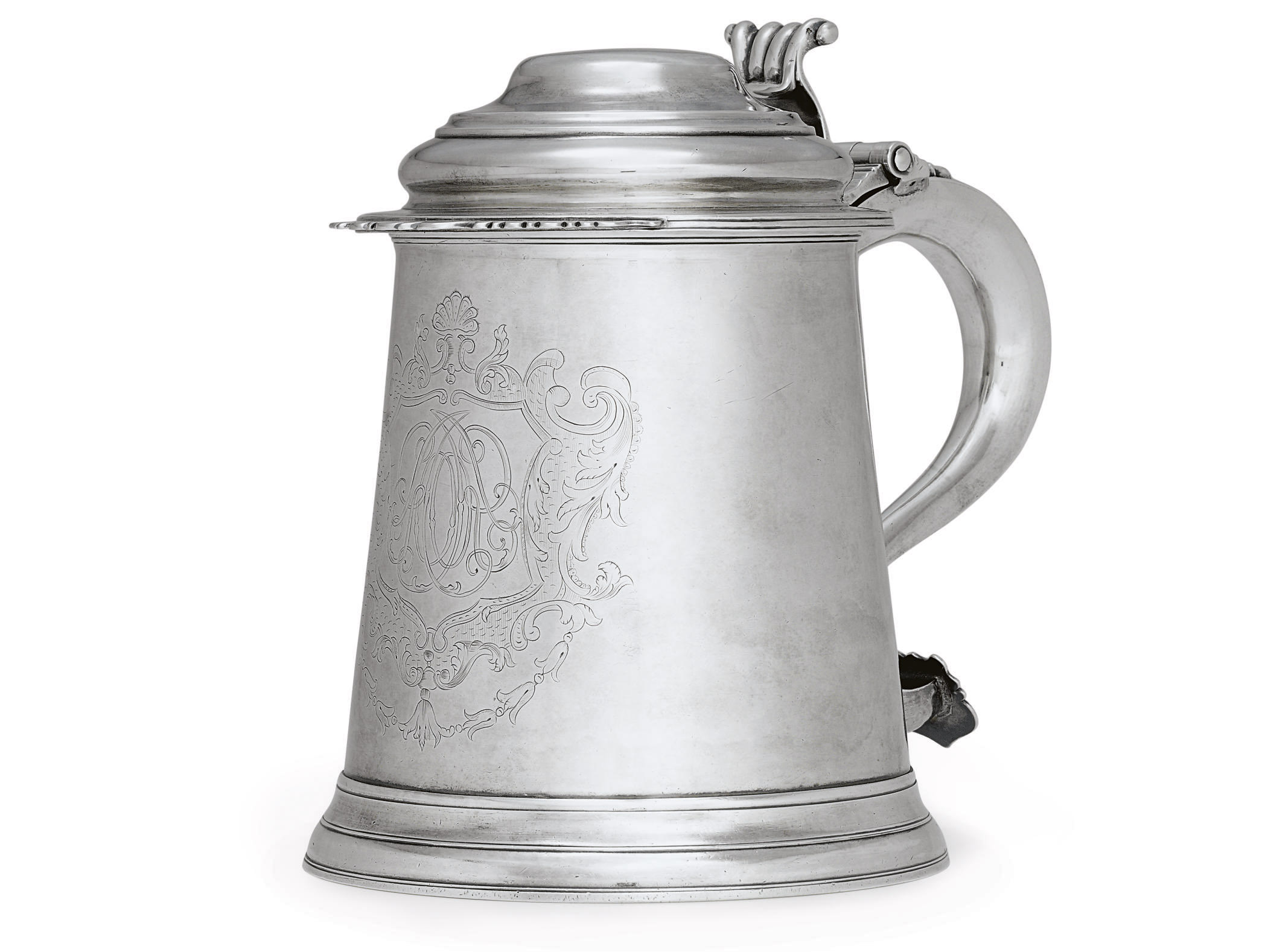 A RARE AND IMPORTANT SILVER TANKARD