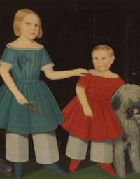 Double Portrait of Theron Simpson Ludington (1850-1922) and His Older Sister Virginia Ludington(1846-1865), circa 1852