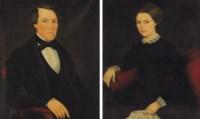 A Pair of Portraits of Theron Daniel Ludington (1826-1900) and Eleanor Bailey Ludington (1826-1863)