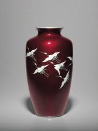 A Cloisonné Enamel and Embossed Foil (ginbari) Vase