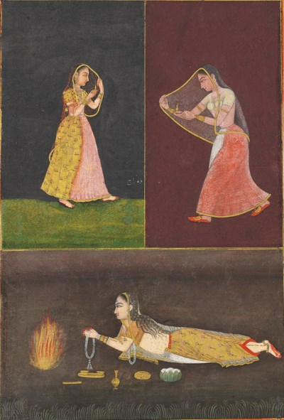 A painting of three ladies wit