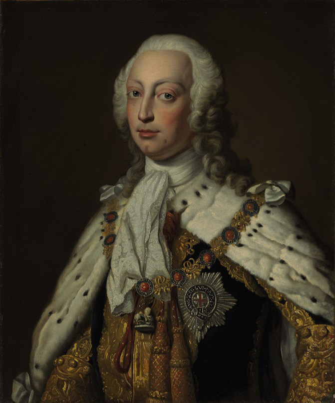 Portrait of Frederick Lewis (1707-1751), Prince of Wales, half-length, in robes of state and wearing collar and star of the Order of the Garter