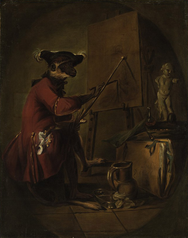 Le singe peintre ('The Monkey Painter')