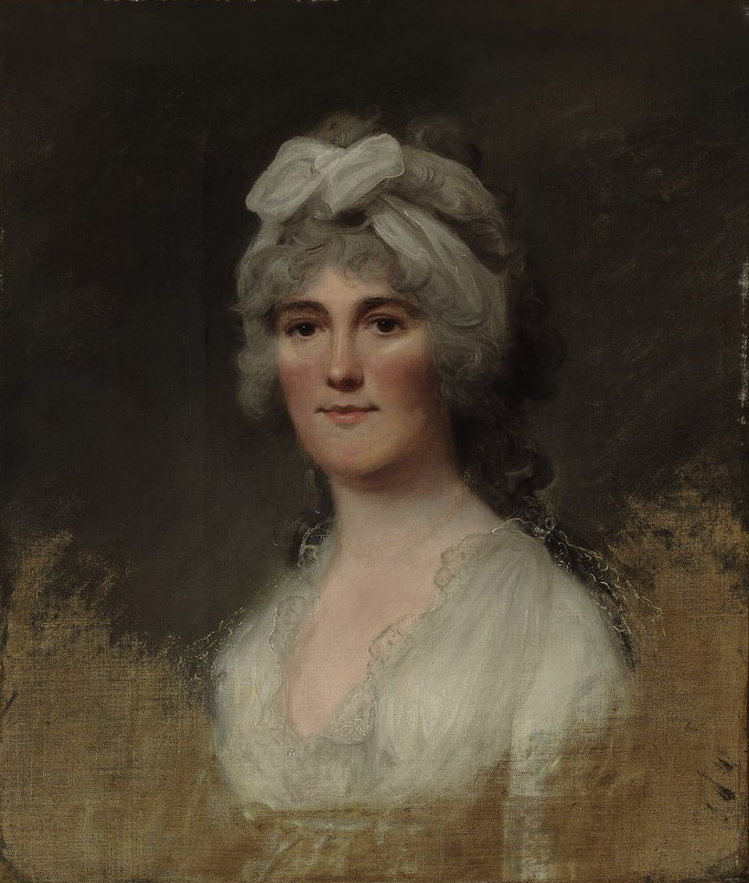 Portrait of Mrs. Coppell, bust-length, with a white bonnet