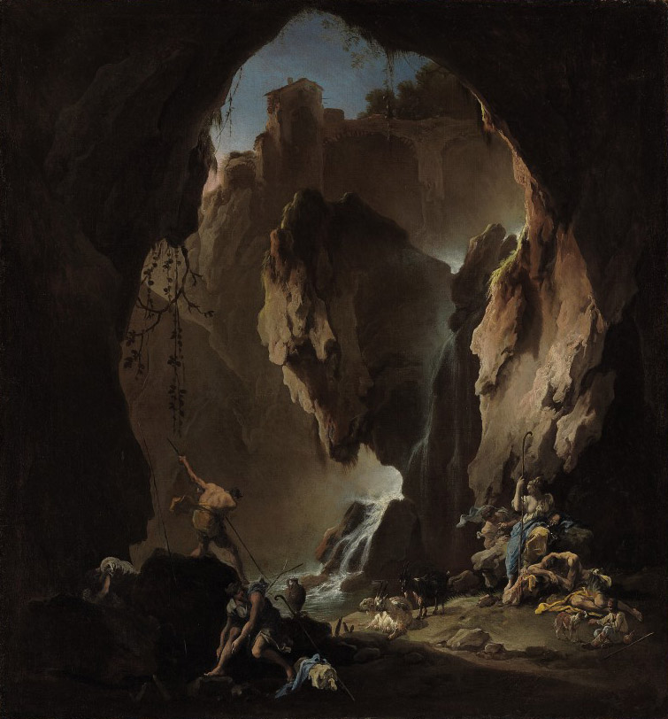 Shepherds in a grotto