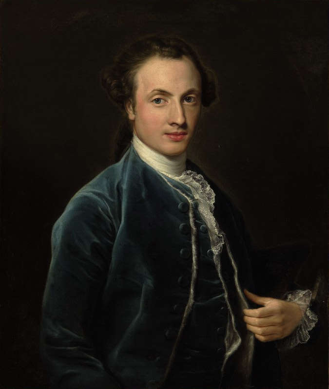 Portrait of Thomas Thornhill Esq., half-length, in a blue velvet coat