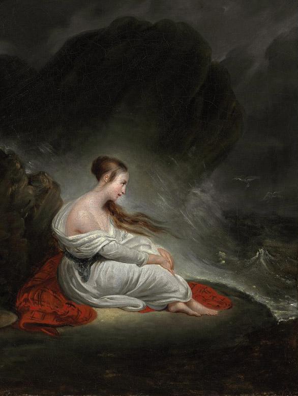 Young woman at the sea
