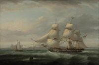 A Mexican Frigate off Dover