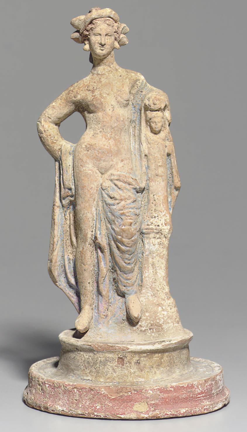 A GREEK TERRACOTTA GODDESS