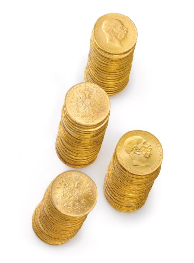 A GROUP OF GOLD COINS
