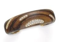 A DIAMOND AND WOOD BRACELET, BY DONALD CLAFLIN, TIFFANY & CO.