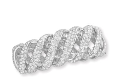 A DIAMOND BRACELET, BY TIFFANY