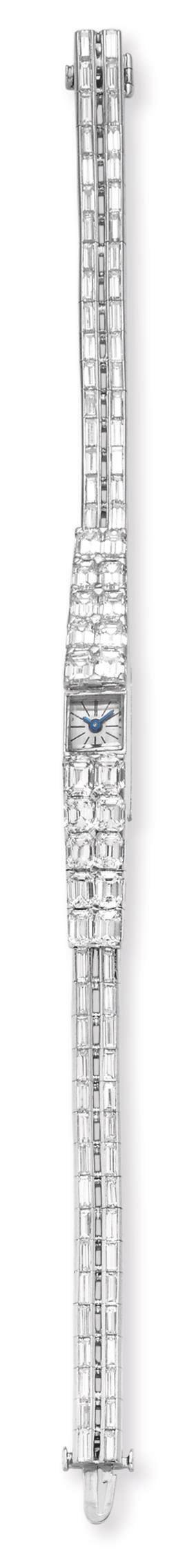 A DIAMOND WRISTWATCH, BY STERLE