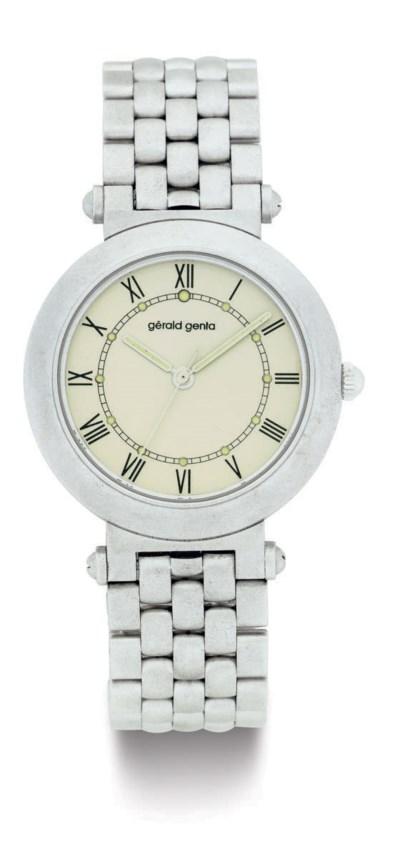 GERALD GENTA.  AN 18K WHITE GO