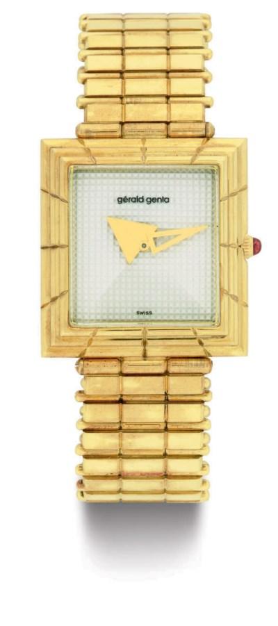 GERALD GENTA.  AN 18K GOLD WRI