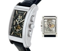 AUDEMARS PIGUET.  A FINE RARE AND OVERSIZED LIMITED EDITION PLATINUM TOURBILLON CHRONOGRAPH WRISTWATCH WITH DYNAMOGRAPH AND POWER RESERVE
