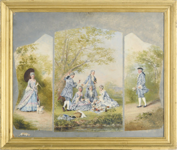Un dejeuner sur l'herbe; and two companion works
