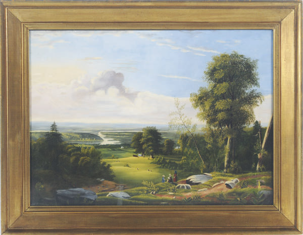A leisure day in a valley; and a companion painting