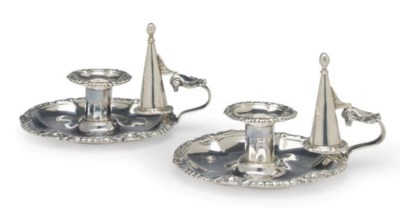 A PAIR OF GEORGE IV SILVER CHA
