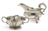 A GEORGE II SILVER SAUCEBOAT,