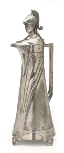 A LARGE GERMAN SILVER-PLATED T