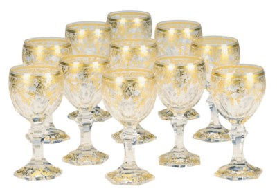 A SET OF ELEVEN ITALIAN GILT G
