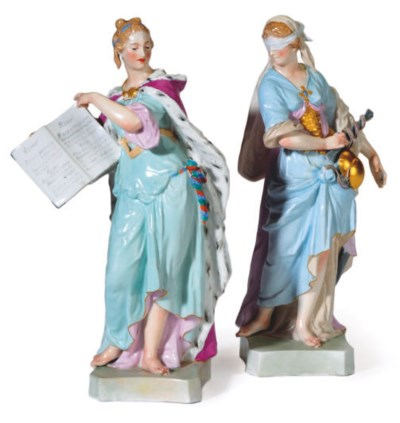 A PAIR OF GERMAN PORCELAIN ALL