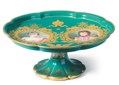 A SEVRES STYLE NAPOLEONIC GREE