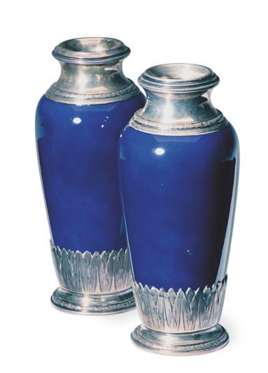 A PAIR OF SMALL SEVRES STYLE S
