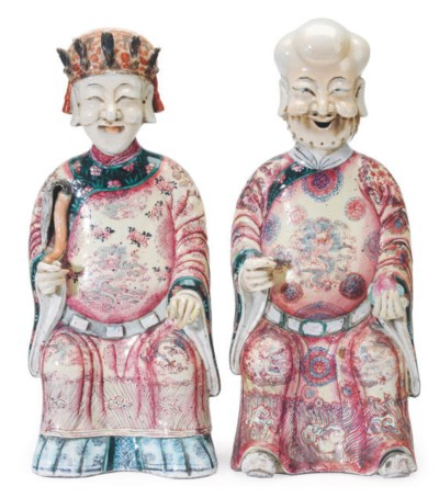 TWO PORCELAIN FIGURES OF IMMOR
