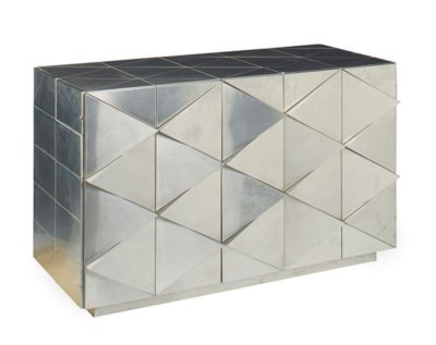 A STAINLESS STEEL SIDE CABINET