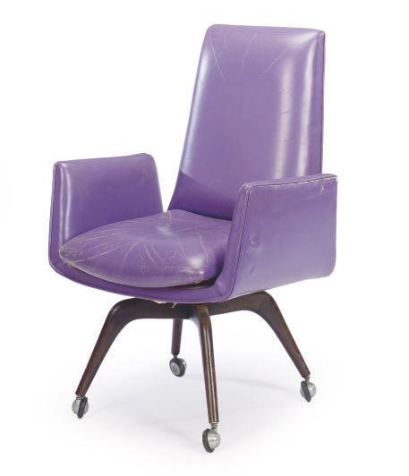 Sensational A Purple Leather Upholstered Desk Chair By Vladimir Kagan Cjindustries Chair Design For Home Cjindustriesco