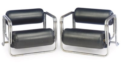 A PAIR OF ITALIAN CHROME AND L