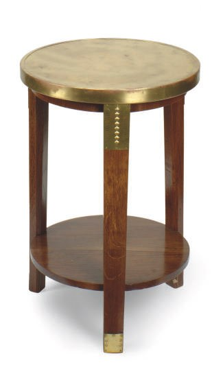 A CONTINENTAL OAK AND BRASS-BO