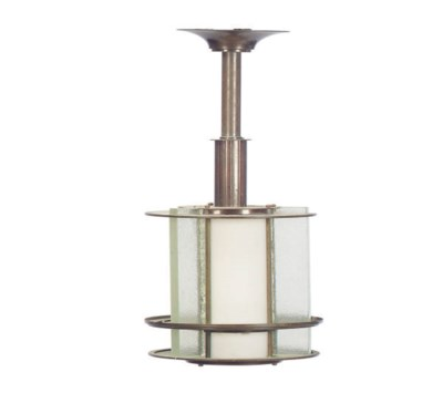 An Art Deco Glass and Metal Ch