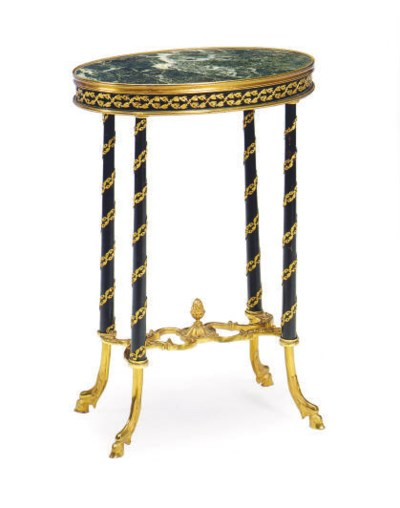 A FRENCH ORMOLU-MOUNTED EBONIZ