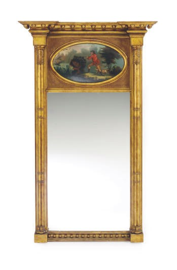 A FEDERAL GILTWOOD AND POLYCHR