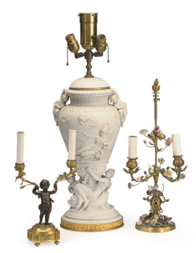 THREE ASSORTED TABLE LAMPS,
