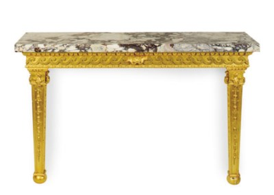 AN ENGLISH GILTWOOD AND BRECHE