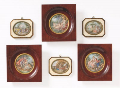 TWO SETS OF FRAMED MINIATURE P