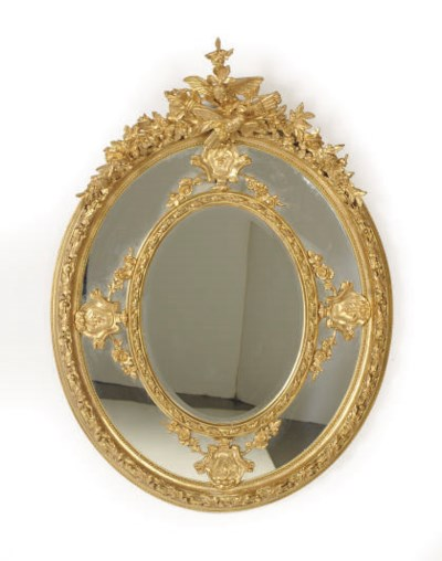 A PAIR OF FRENCH GILTWOOD OVAL