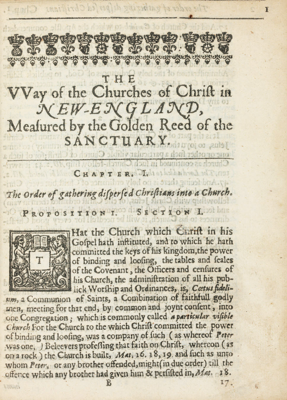 COTTON, John (1594-1652). The