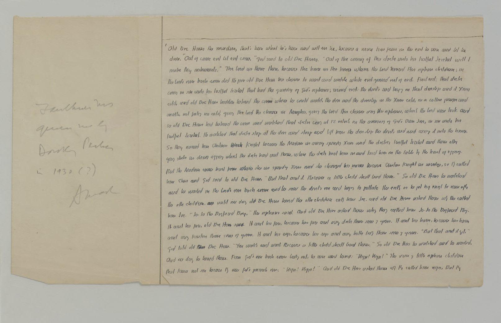 FAULKNER, William. Autograph m