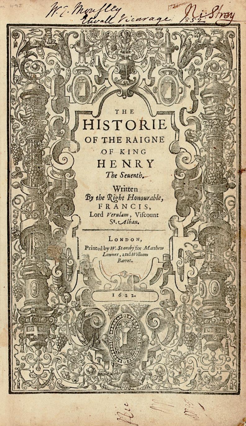 BACON, Francis. The Historie o