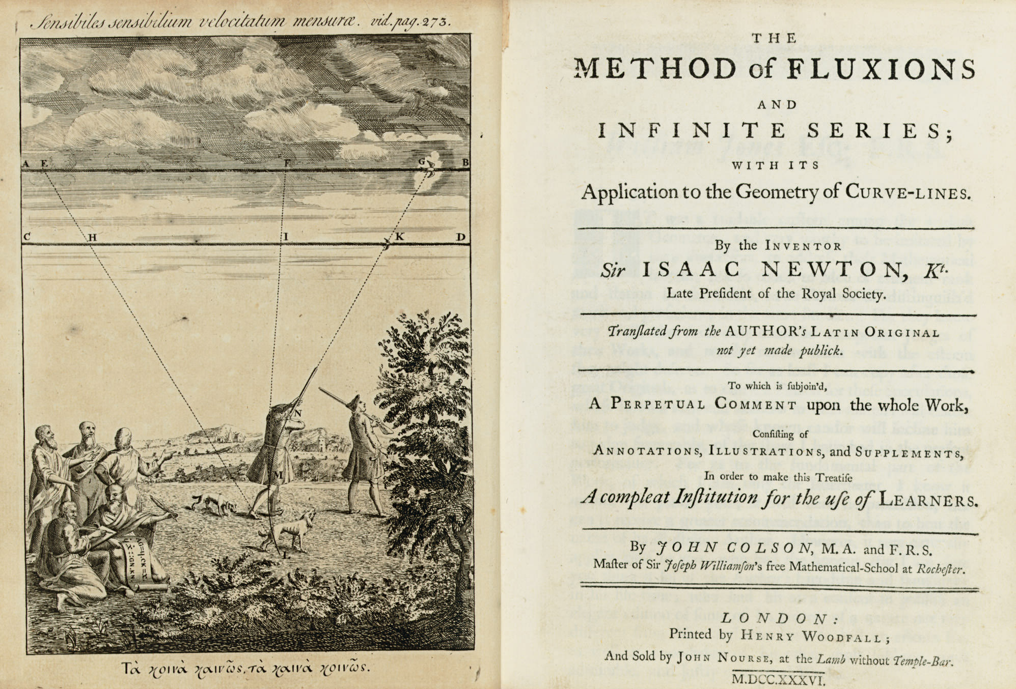 NEWTON, Sir Isaac. The Method