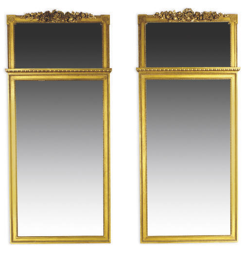 A PAIR OF FRENCH GILTWOOD PIER MIRRORS,