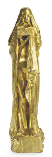 A FRENCH ART NOUVEAU GILT-BRONZE FIGURE, 'LE SECRET',