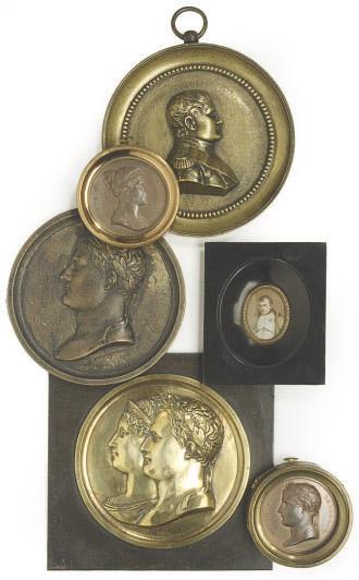A GROUP OF SIX PORTRAITS OF NAPOLEON AND JOSEPHINE,