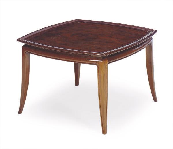 A WALNUT LOW TABLE,